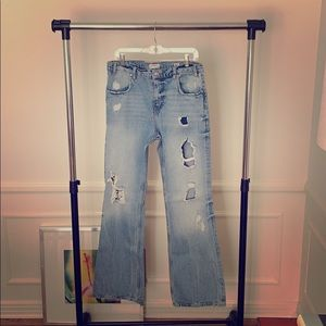 Zara 70's Distressed Jeans - NWOT